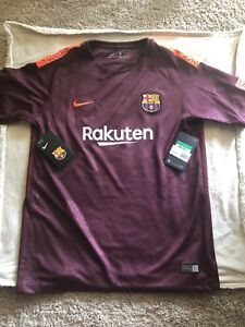 official photos 89370 210ea Details about FC Barcelona Third Kit 2017-18 Nike Dri-Fit Soccer Jersey -  Youth XL