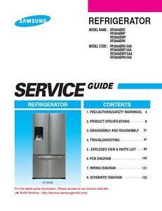 samsung rf268abrs rf268abwp rf268abbp rf268abpn service manual rh ebay com Samsung Refrigerator RF263BEAESR Samsung RF268ABRS Problems