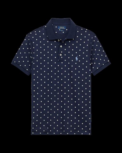 89.50 Neuf avec étiquettes Ralph Lauren bleu marine avec crème pois Medium grand Coton Pima Polo