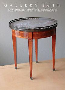 HOWARD VERBECK! LOUIS XVI MARBLE SIDE TABLE! 1920s VTG MID CENTURY ART DECO WOOD
