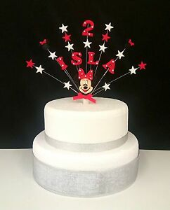 Minnie mouse or mickey mouse birthday cake topper decoration any