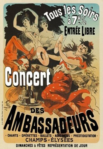 AP133 Vintage French Des Ambassadeurs Theatre Advertisement Poster A1//A2//A3//A4