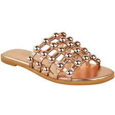 cc209d3c84ee item 2 Womens Ladies Flat Studded Sliders Caged Summer Sandals Open Toe  Slip On Shoes -Womens Ladies Flat Studded Sliders Caged Summer Sandals Open  Toe Slip ...