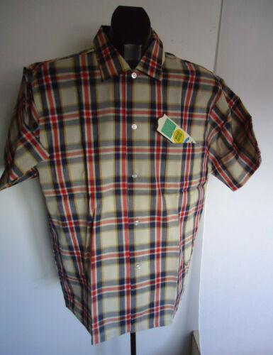 M Mens 1960s NOS Reliance Charcoal Gray Work Shirt Uniform Service 60s VTG