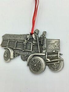 Pewter 1909 Coca-Cola Delivery Truck Ornament Very Cool Amazing Detail