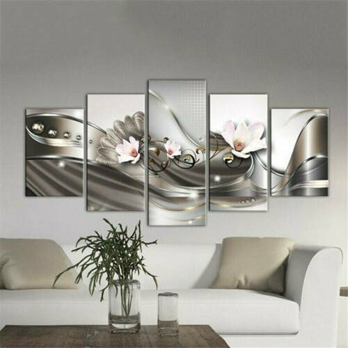 Pack of 5Pcs Modern Flower Canvas Painting Wall Art Home Decor Picture Decor