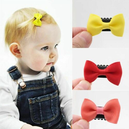 5PCS Kids Girl/'s Fashion Newborn Infant Mini Hair Clip Headwear Baby Hairpin Bow