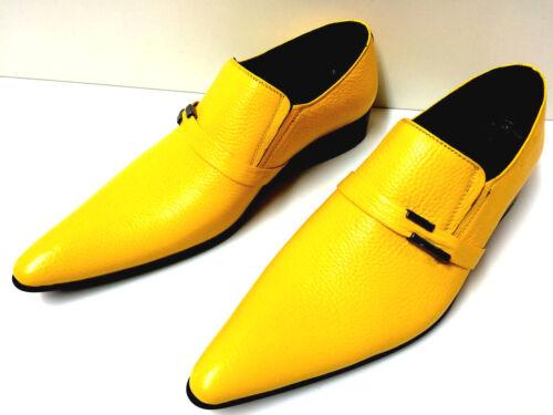 a 40 Chelsy fantasia donna da design gialla uomo Pantofola mano in pelle Scarpe da gialla fAqY7YO