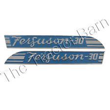 181709m1 181710m1 To30 Side Emblem Pair Badge For Massey Ferguson Ornament Blue