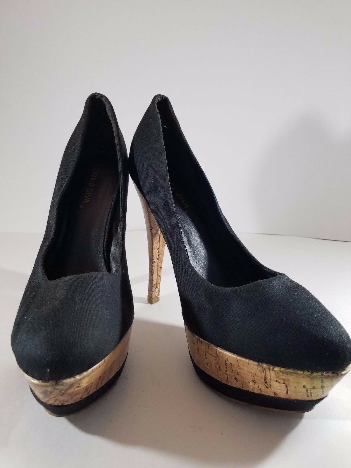 Wild Diva Platform Women's Black Stiletto Platform Diva Heels Size 10 91f4c3