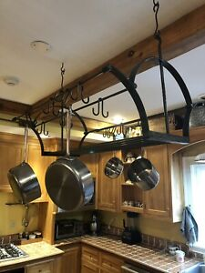 Pot Rack Large Ceiling Kitchen Cookware