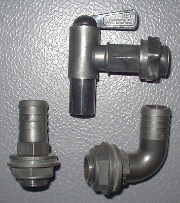 "camper water tank fittings.1"" waste fittings & drain tap new"