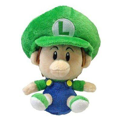 "Official Sealed Sanei Japan 6"" Baby Luigi - Super Mario Plush Doll Toy"