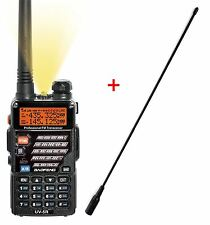 AIRSOFT 2 WAY DUAL BAND RADIO BAOFENG UV-5R HEADSET + LONG WHIP AERIAL