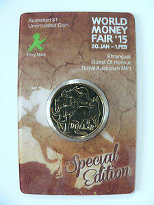 2015 1 $ World Money Fair Special Ampelmann Couillu Uncirculated Coin-afficher Le Titre D'origine