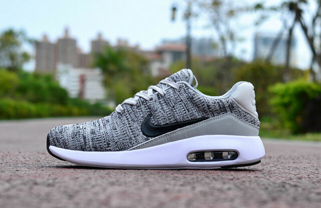 best website 2408b 473f2 Nike Air Max Modern Flyknit Grey Black Men Running Shoes SNEAKERS  876066-001 UK 11