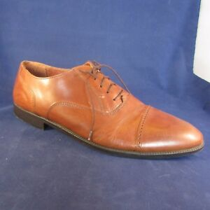 Giorgio Brutini Men's Cap Toe Perforated Lace Oxfords Size 13 HD Chestnut Brown