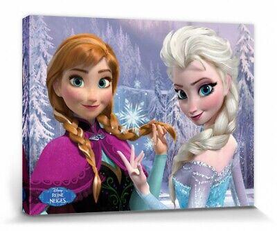 Die Eiskönigin Anna Olaf Sven Elsa Poster Leinwand-Druck Bild #78808 40x30cm