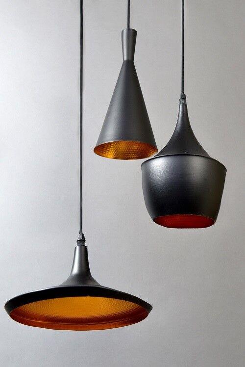 Design Lampada Led a Sospensione Sospensione Sospensione Luce 3 Nero Alluminio Interno oro 2f7bee