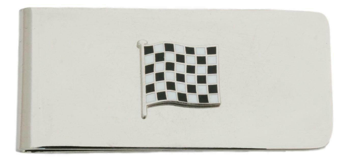 Finish Line Flag Metal Money Clip in Gift Box with Free Engraving 477
