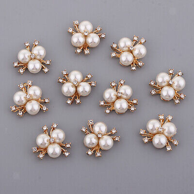 10x Fashion Connectors Jewelry Making Charms Pendant Pearl Button DIY Craft