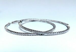 4-16ct-Natural-round-brilliant-in-out-diamond-hoop-earrings-14-Karat-2-4-Inch