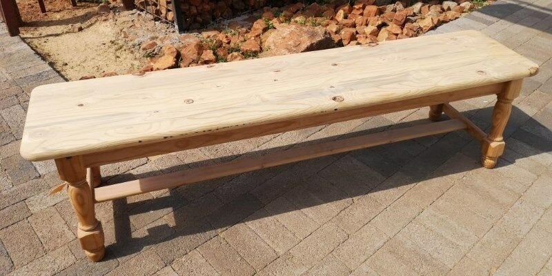 Raw Pine Benches J 4696/97