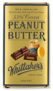 Details About Whittakers Peanut Butter Chocolate Block 250g