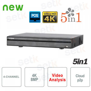DVR-5in1-H265-4-Canali-Ultra-HD-4K-8MP-Dahua-XVR5104H-4KL-X