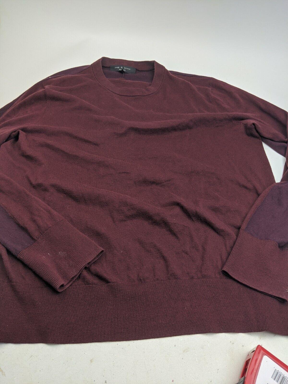Men's Rag And Bone Cotton Silk Cashmere Pullover … - image 1