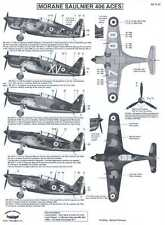 Berna Decals 1/72 MORANE SAULNIER MS.406 French Fighter Aces