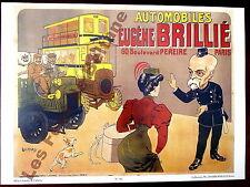 Affiche repro Automobiles Eugéne Brillié Cie générale Omnibus , Lochard