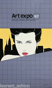 PATRICK-NAGEL-HAND-SIGNED-LITHOGRAPH-ART-EXPO-NY-NEW-YORK-MIRAGE-EDITIONS-1981