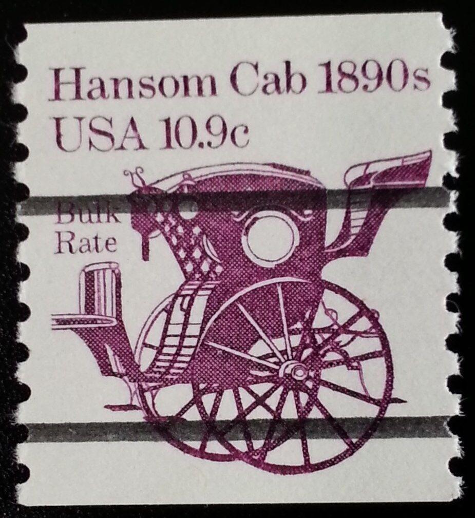 1982 10.9c Hansom Cab Transportation Coil, Precancelled