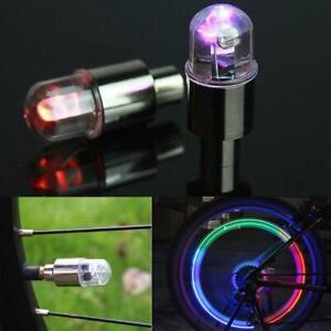 4X-LED-Ventilkappen-Radspeichen-Felgenlichter-Fahrrad-Auto-Licht-Blinklicht-Hot