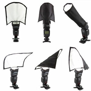 New-Foldable-Speedlight-Reflector-Snoot-Sealed-Flash-Softbox-Diffuser-Bender-HOT
