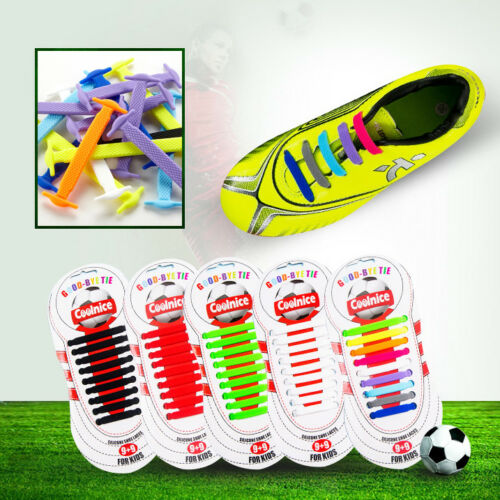 Teens Junior Easy Slip-on No Tie Shoelaces For Baseball Football Boots Sneakers