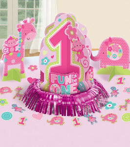 Dekoset 1 Geburtstag Madchen Traumschone Tischdeko Party Girl