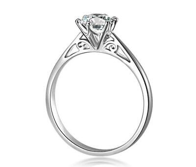925 Sterling Silver 1.0 Ct Cubic Zirconia Engagement Wedding Promise Ring RS23