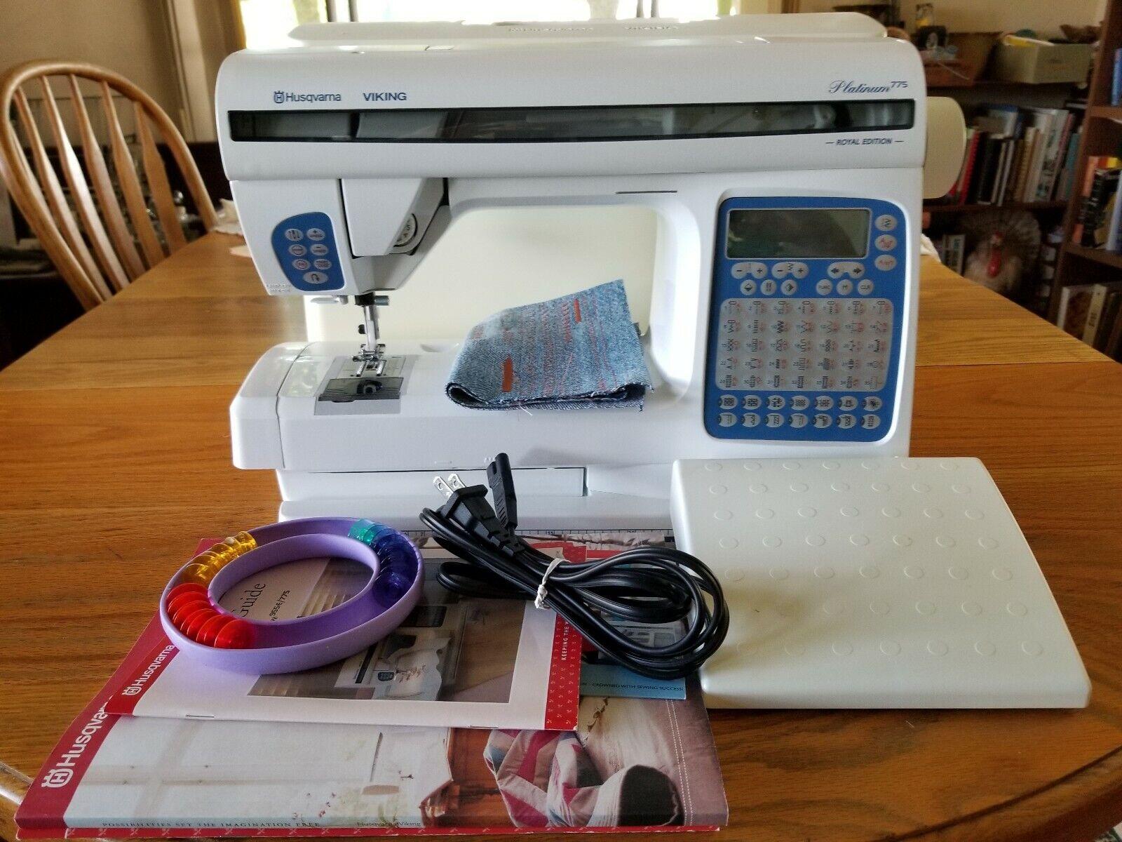 s l1600 - Husqvarna Sewing Machine Platinum 775 Royal Edition + Extra Bobbins
