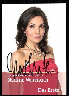 2019 Neuestes Design Nadine Warmuth Sturm Der Liebe Autogrammkarte Original Signiert ## Bc 13819
