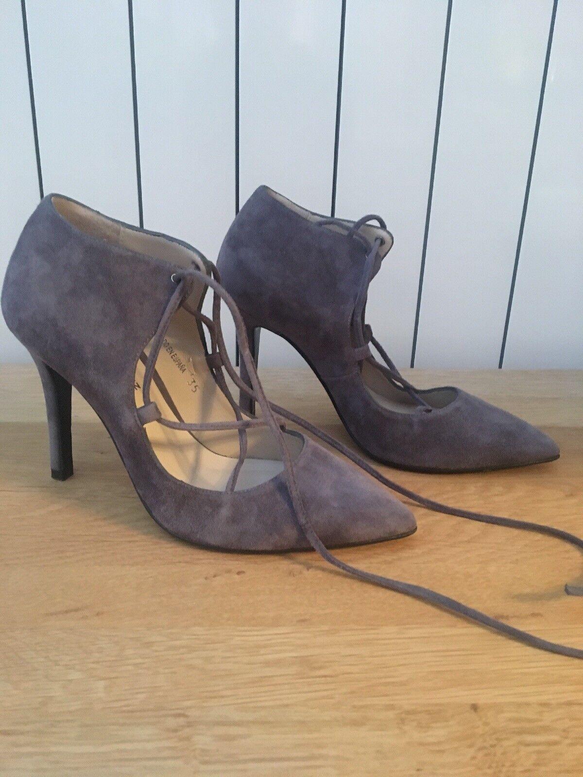 Gloria Ortiz Grau Suede Lace Schuhe Boot - Small Schuhe Größe 2