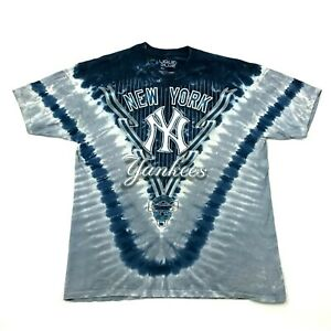 16ebea0b6 Liquid Blue NEW YORK YANKEES Shirt Blue Tie Dye Two Sided Baggy Fit ...