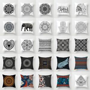 Ethnic-Black-amp-White-Polyester-Cushion-Cover-Throw-Pillow-Case-Home-Sofa-Decor
