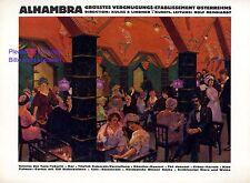 Etablissement Alhambra Wien Reklame 1924 Bar Tanz Tabarin Nachtclub Café Cabaret