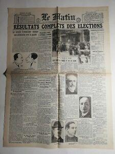 N467-La-Une-Du-Journal-Le-Matin-22-aout-1940-dommages-de-guerre