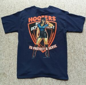 a0abf7f8 Image is loading HOOTERS-Police-Dept-Restaurant-Graphic-T-Shirt-Girlie-
