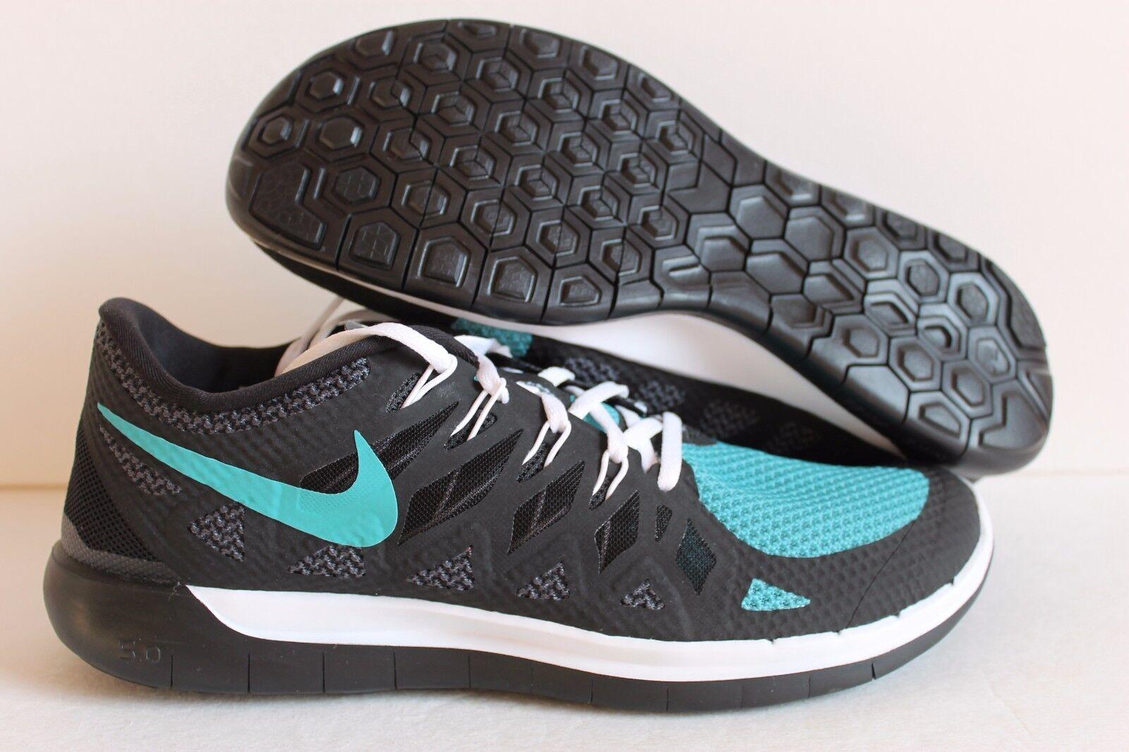 Nike ID Hombre Free Run 5.0 ID Nike Negro/Neo Turquesa [653713-992] 55fae7