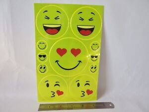 2 sets of 11 Reflective Stickers Safety Stickers High Vis Visibility SMILEY FACE