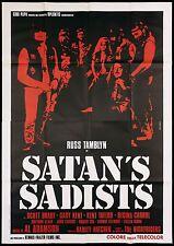 SATAN'S SADISTS MANIFESTO CINEMA AL ADAMSON ON THE ROAD BIKERS MOVIE POSTER 4F